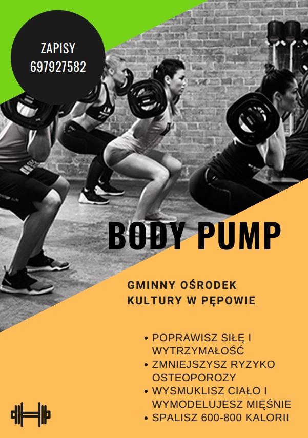 BODY PUMP - plakat informacyjny.  Zapisy - 697927582