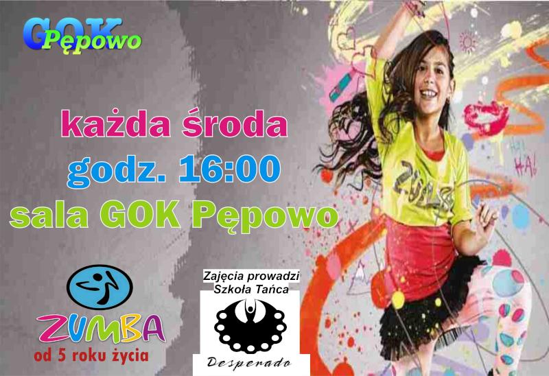Zumba Kids - plakat informacyjny