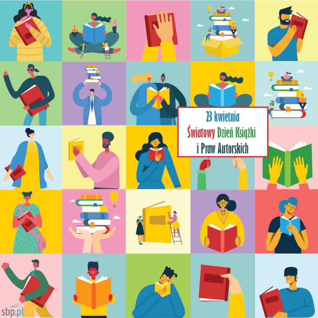 ikola - różne osoby czytające książki oraz w towarzystwie książek
