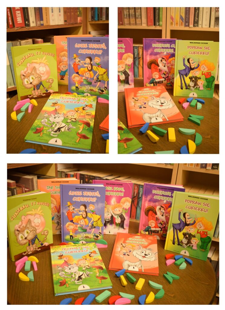 książeczki dla dzieci o kotku Cukierku - cała seria